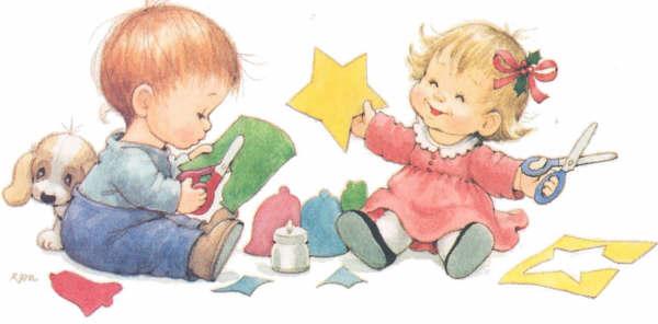 Картинки дети делают поделки